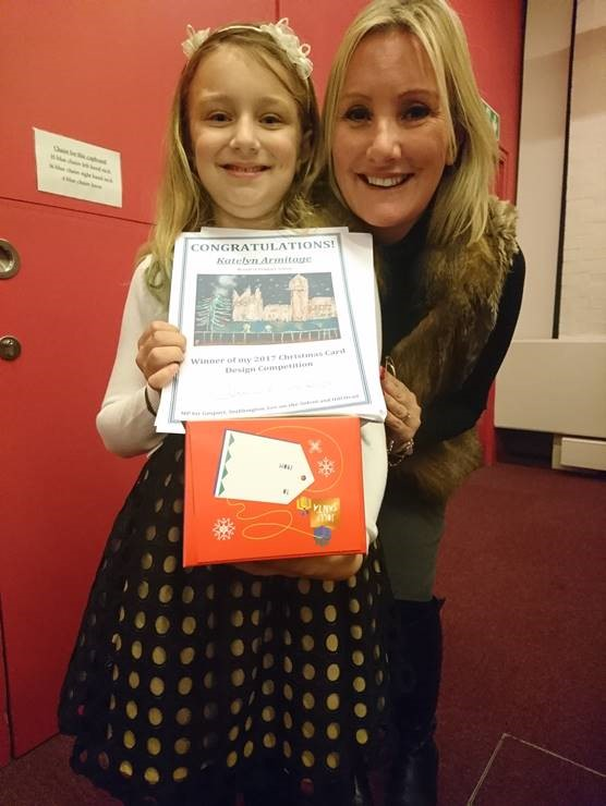 Caroline Dinenage - Christmas Card Competition 2017 Winner Katelyn Armitage