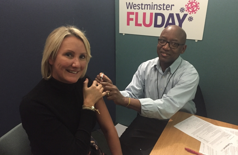 Caroline Dinenage at Westminster Flu Day