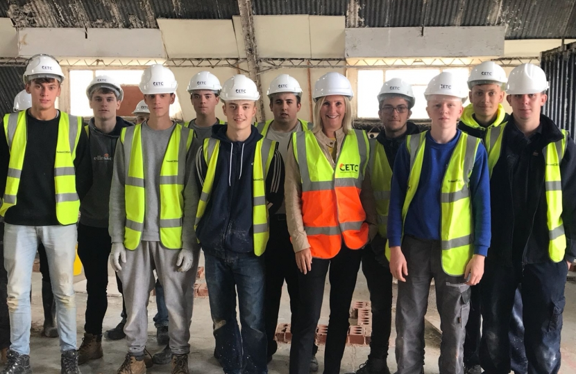 Civil Engineering Training Centre - Caroline Dinenage MP